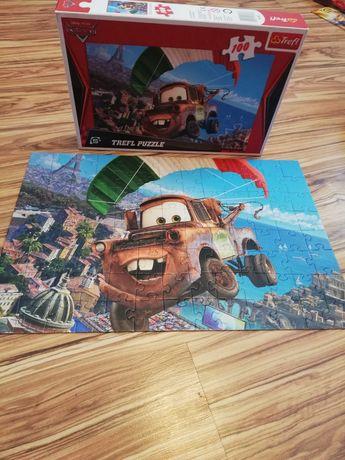 Puzzle auta cars 6 obrazków
