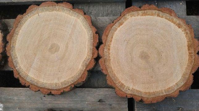 Plastry plaster drewna dębowy 20-25/3cm