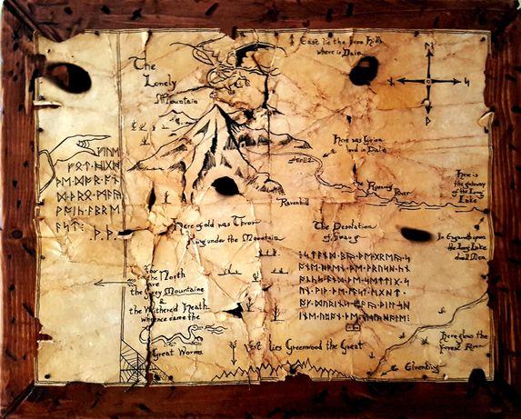 Hobbit, mapa Thorina, Władca pierścieni