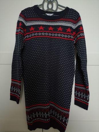 Damski sweterek z wzorami