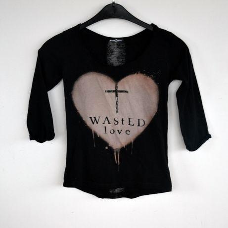 Czarna bluzka, bershka, rozmiar s