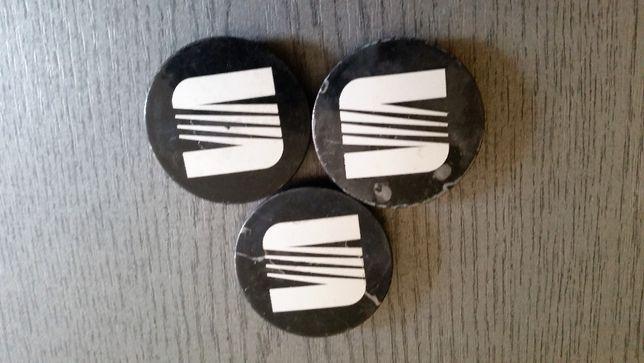 Oryginalne dekielki do felg aluminiowych do Seata 3 sztuki