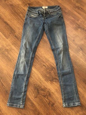 Spodnie rurki Jeansy bershka 34 długie nogawki