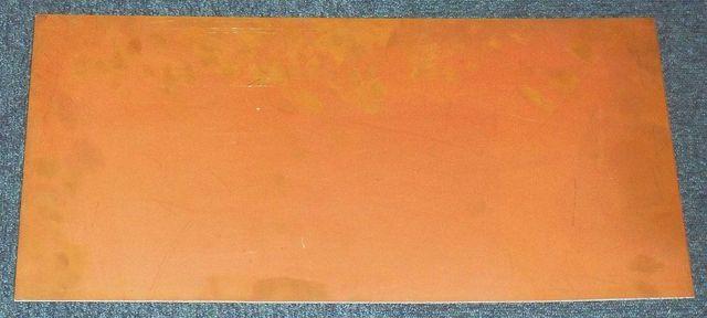Laminat miedziowany szklano-epoksyd. jednostronny 40 um, 261 x 537 mm