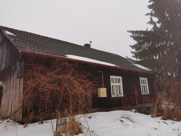Dom drewniany do rozbiórki (materiał), stare deski, bale, dachówka