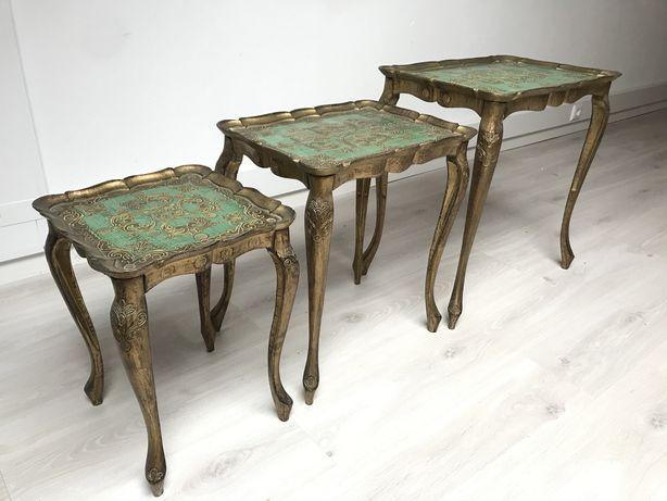 Conjunto 4 mesas de madeira de apoio