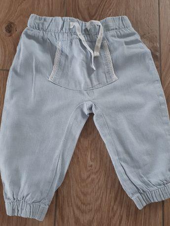 spodnie lniane 74
