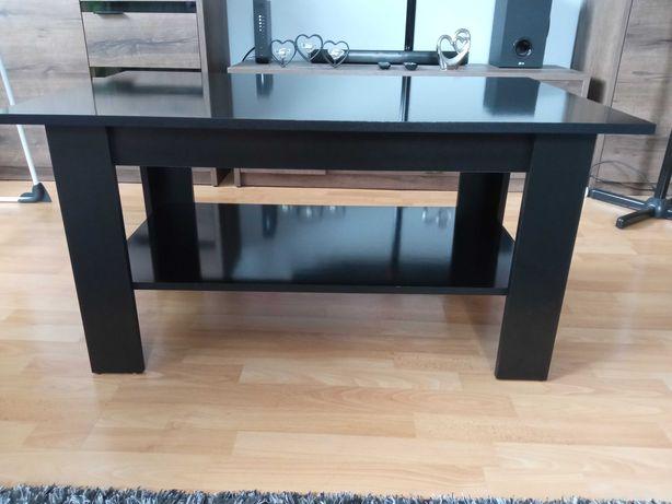 Ława czarna z półką, stolik, 102x62, wys. 52.