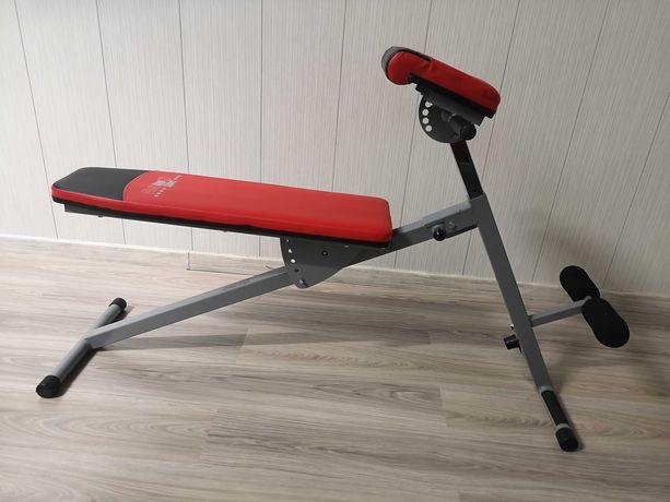 ławka do brzuszków brzuszki ćwiczeń grzbietowa Christopeit CTE