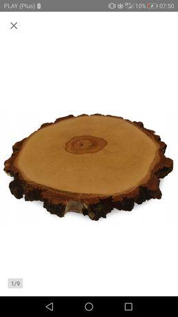 Patera drewniana impregnowana 42 - 45 cm,styl rustykalny,ślub i wesele