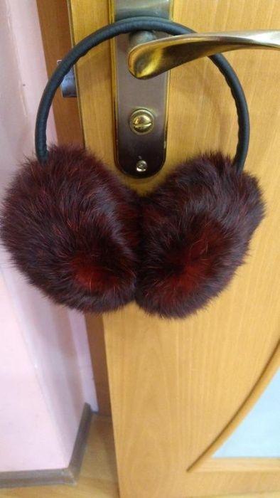 Моднявые наушники натуральный кролик Кременчуг - изображение 1