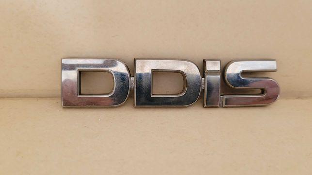 Emblemat, znaczek napis DDiS z samochodu suzuki