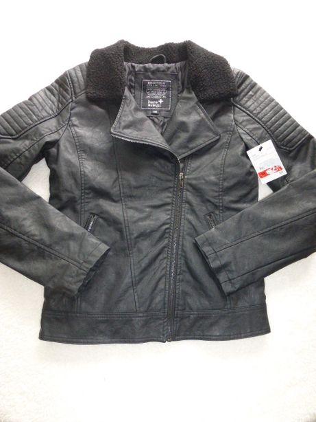 Эко кожа,суперовая куртка косуха С&А ,рост 164