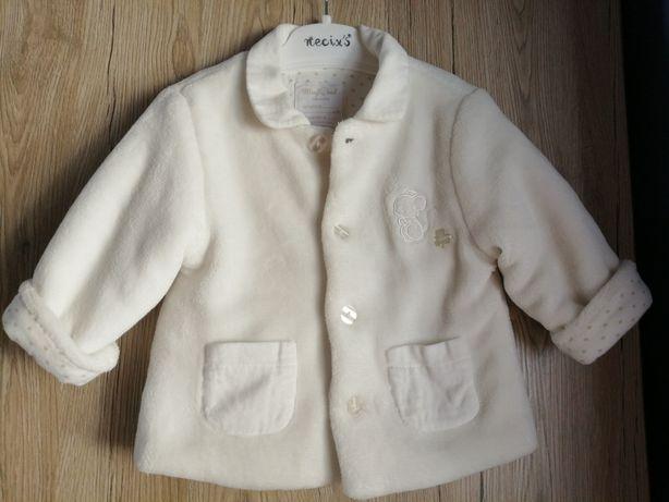 Elegancki komplecik np do chrztu z kurteczką dla chłopca 68/74