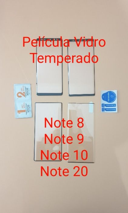 Película em vidro temperado Note 8 - Note 9 - Note 10 - Note 20 Setúbal (São Julião, Nossa Senhora Da Anunciada E Santa Maria Da Graça) - imagem 1