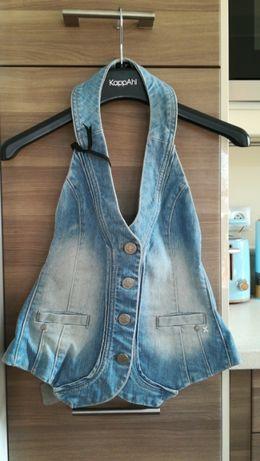 Nowa jeansowa kamizelka w rozm 36