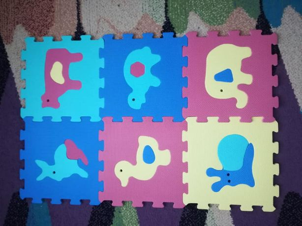 Duże puzzle piankowe