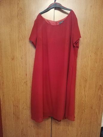 Luźna elegancka sukienka, na wesele, komunię, rozmiar 48