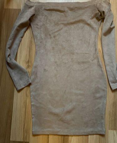 Sukienka z miki bezowa