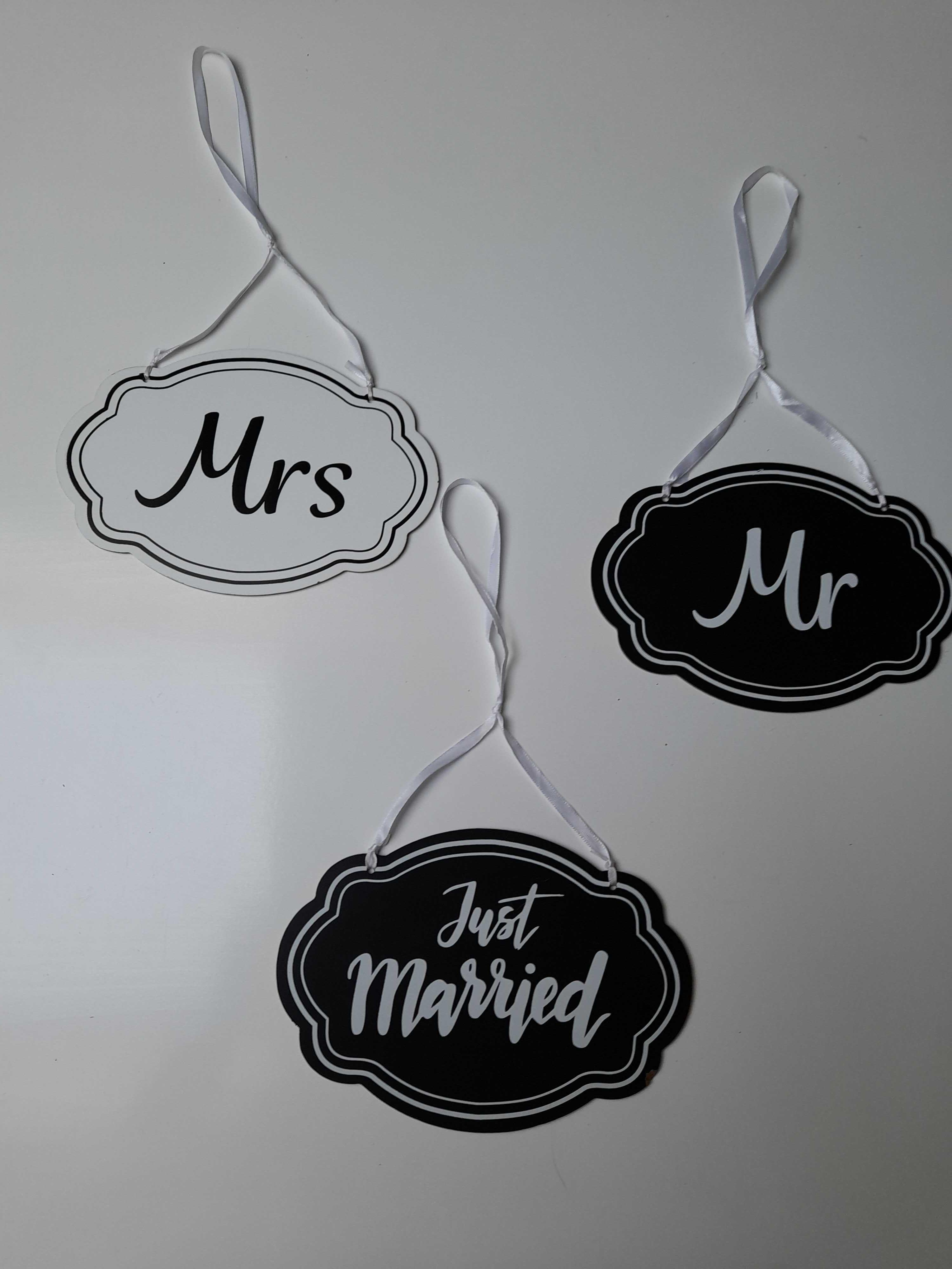 Tabliczka Mr & Mrs