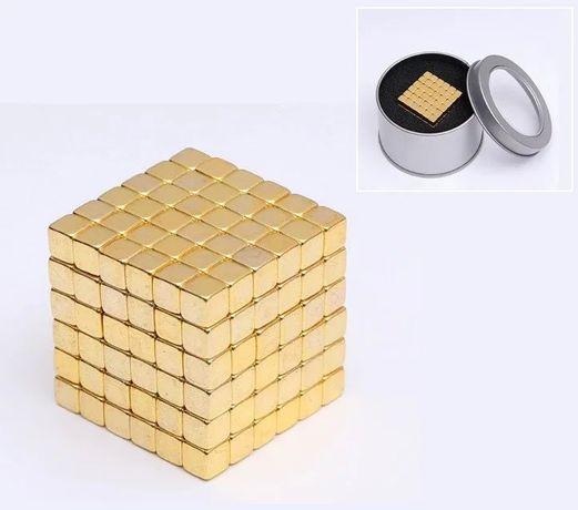 Золотой Тетракуб 5мм * 216 шт НЕОКУБ NEOCUBE, неокуб квадрат