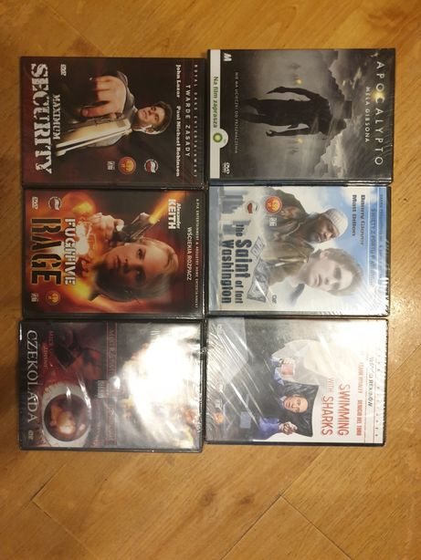 filmy DVD na płytach