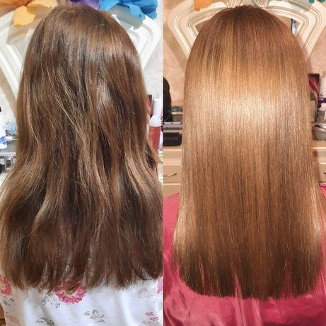 Кератиновое выпрямление. Лечение волос,ботокс.Троещина.Gloss, felps