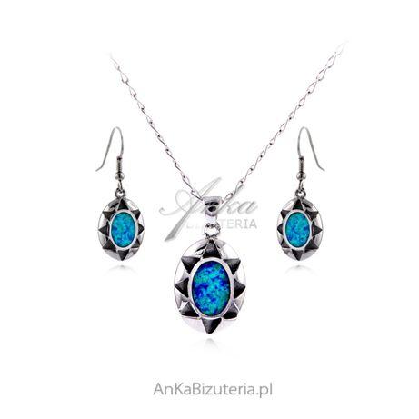 ankabizuteria.pl zestawy biżuterii srebrnej z zielonym Komplet biżute