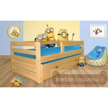 -50% Łóżko dziecięce drewniane podwójne piętrowe świerkowe wysuwane