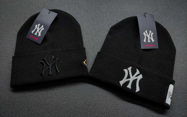 Черная шапка NY (New York Yankees) женская/мужская Бесплатная укрпочта