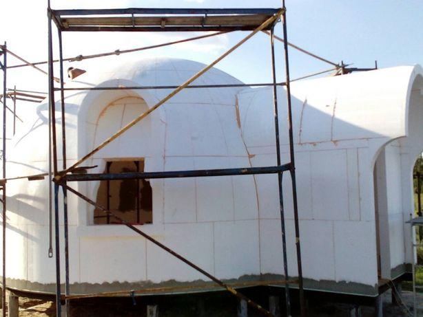 Конструкции домокомплекта для купольного дома.