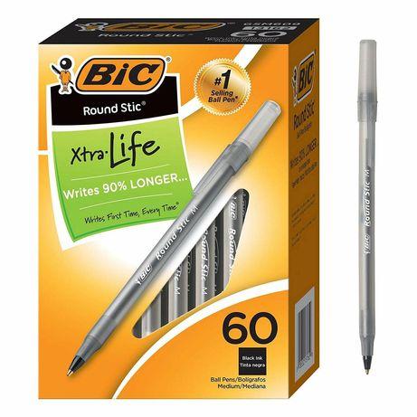 Ручка bic шариковая черная 60 штук