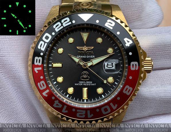 Мужские часы Invicta 27970 Grand Diver Automatic 47 мм. Red Black