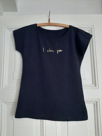 Granatowy T -Shirt!