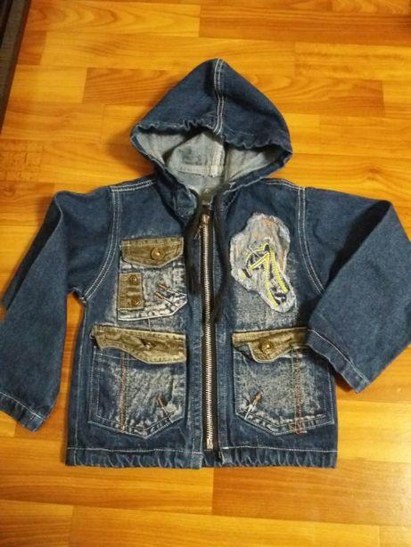 Джинсовый пиджак на 3-5 лет