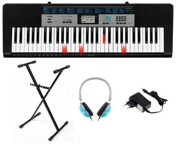 Keyboard Casio LK136 + Statyw Zasilacz Słuchawki NOWY