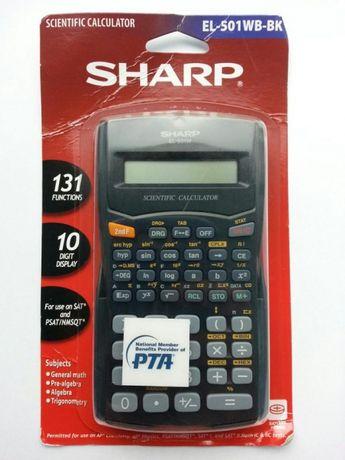 Науковий калькулятор Sharp EL-501WB-BK (131 функція)
