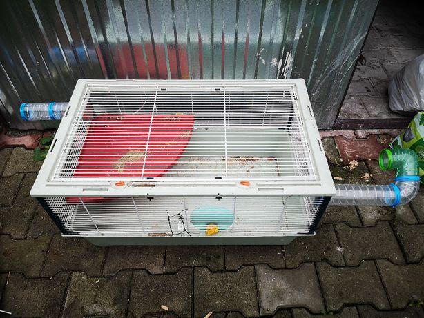 Klatka dla chomika, myszy + tunele. MEGA zestaw.
