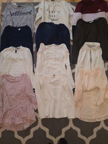 Zestaw paka 12 ubrań bluza bluzka koszula sweterek rozm M S
