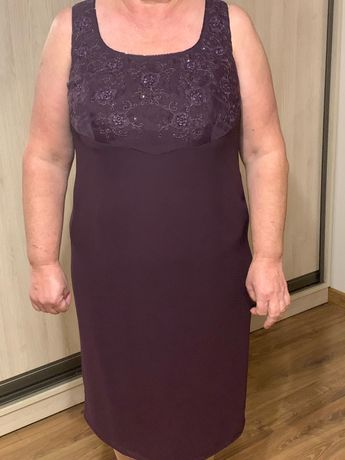 Sukienka kolor śliwka