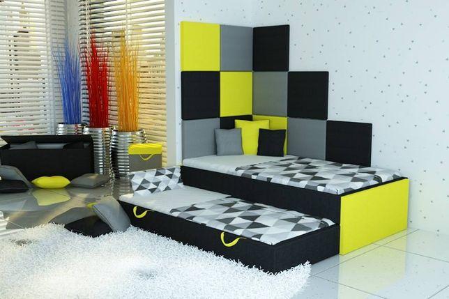 Łóżko piętrowe, łóżko dziecięce+2 materace+panele ścienne