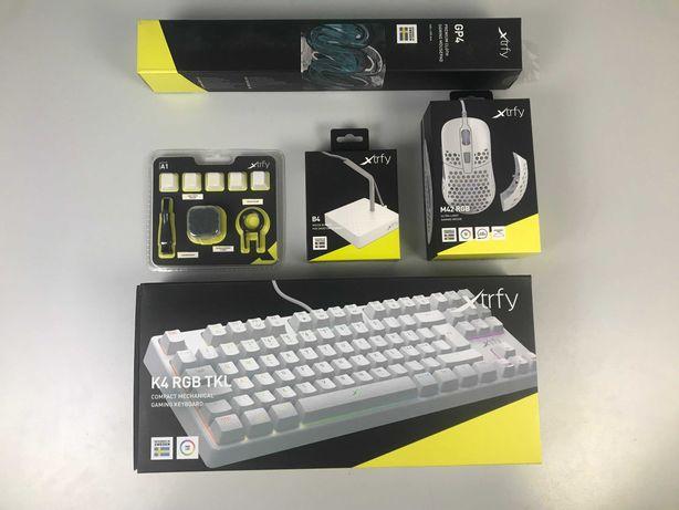 Комплект кибер спортсмена Мышка Xtrfy M42, клавиатура Xtrfy K4