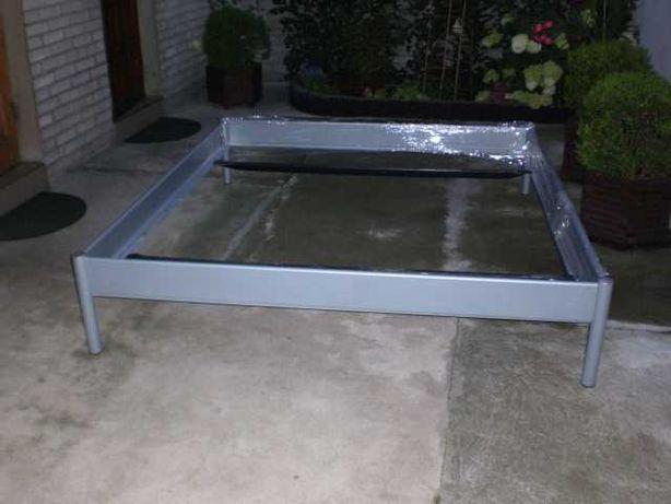 łóżko metalowe rama 180x200 mocne  srebrne z niemiec