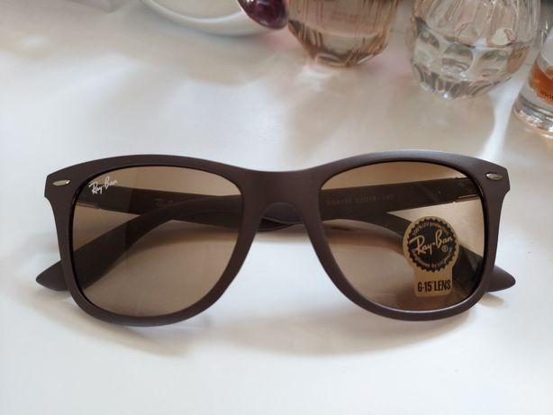 Okulary przeciwsłoneczne Ray Ban brazowe matowe