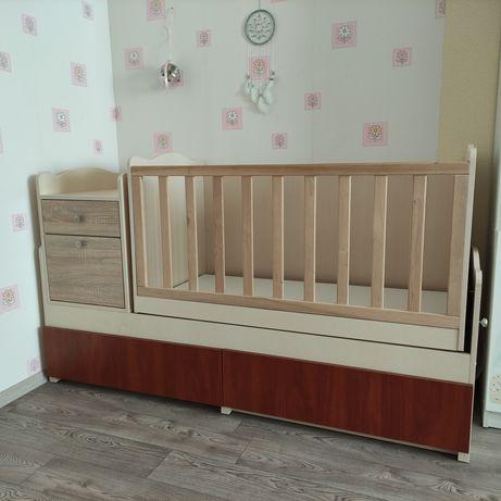 Детская кроватка трансформер люлька 4 в 1