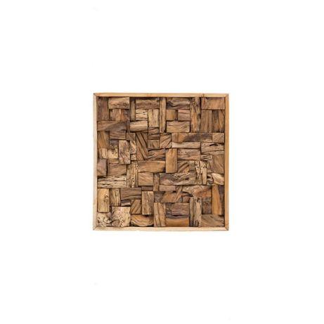 Dekoracja ścienna z drewna tekowego BONAMI