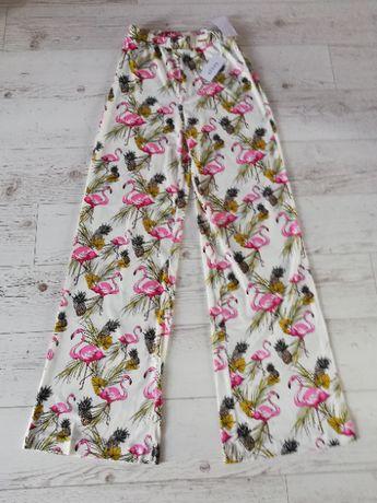 Spodnie GUESS flamingi flare r. S NOWE z metkami !
