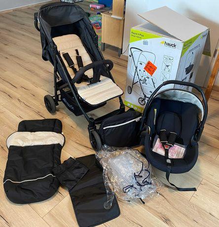 Conjunto carro de bebe e cadeira auto
