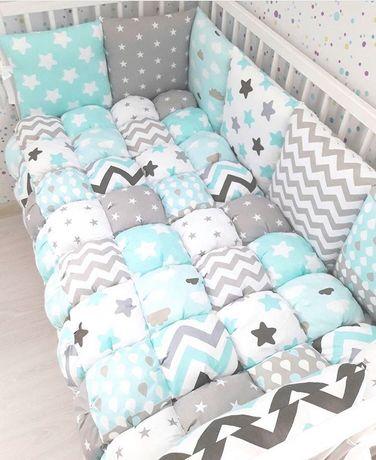 Бортики в кроватку , бортики подушки, захист в ліжечко