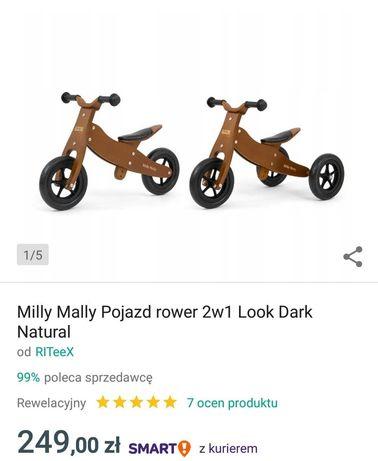Rowerek drewniany 2w1
